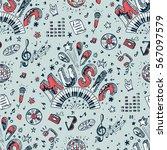 vector music background.... | Shutterstock .eps vector #567097579