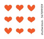 heart set | Shutterstock .eps vector #567099559
