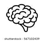 brain or mind side view line... | Shutterstock .eps vector #567102439