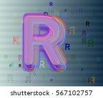 r alphabet vector texture | Shutterstock .eps vector #567102757
