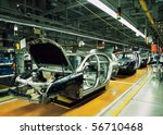 car production line with...   Shutterstock . vector #56710468