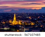 wat arun temple of a dawn  in... | Shutterstock . vector #567107485