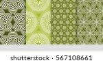 set of geometric flower. floral ... | Shutterstock .eps vector #567108661