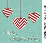 valentines day card  geometric... | Shutterstock .eps vector #567111331