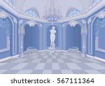 illustration of palace hall | Shutterstock .eps vector #567111364