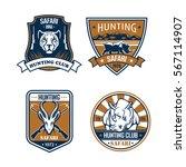 hunting sport icons. hunter... | Shutterstock .eps vector #567114907