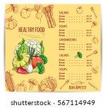 menu with vegetables....   Shutterstock .eps vector #567114949
