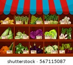 food market store. shop with... | Shutterstock .eps vector #567115087