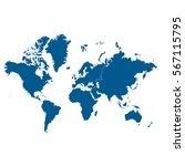world map illustration | Shutterstock .eps vector #567115795