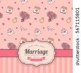wedding card template. vector... | Shutterstock .eps vector #567115801