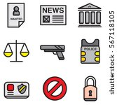police flat icons design colour ... | Shutterstock .eps vector #567118105