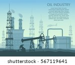 vector oil rig industry of... | Shutterstock .eps vector #567119641