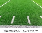american football field with... | Shutterstock . vector #567124579