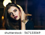 close up portrait of a young... | Shutterstock . vector #567133069