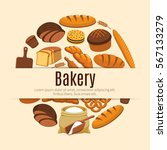 Pastry Food And Bread Banner....