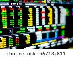 stock market data on led... | Shutterstock . vector #567135811