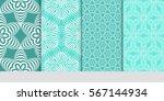 set of geometric flower. floral ...   Shutterstock .eps vector #567144934