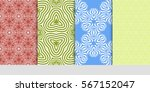 set of floral geometric lace... | Shutterstock .eps vector #567152047
