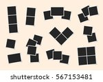 photo frames set. collection of ... | Shutterstock .eps vector #567153481