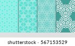 set of floral pattern of... | Shutterstock .eps vector #567153529