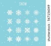 Set Of Snow Icon