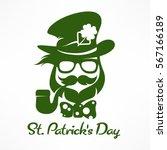 saint patricks day hipster... | Shutterstock .eps vector #567166189