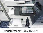 multifunction printer full with ... | Shutterstock . vector #567168871