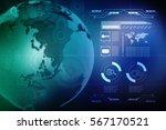 digital abstract technology... | Shutterstock . vector #567170521