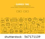 icons set for summer holiday... | Shutterstock .eps vector #567171139
