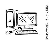 vector illustration hand drawn... | Shutterstock .eps vector #567171361