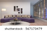interior with sofa. 3d... | Shutterstock . vector #567173479