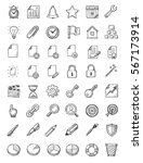sketchy icons system and office | Shutterstock .eps vector #567173914