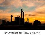industrial power plant in... | Shutterstock . vector #567175744