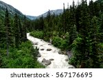 Skagway River flowing through the valley
