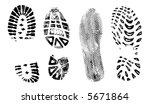 4 isolated bootprints   highly... | Shutterstock .eps vector #5671864