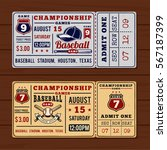 vintage tickets to the... | Shutterstock .eps vector #567187399