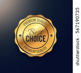 Golden Best Choice Badge Design