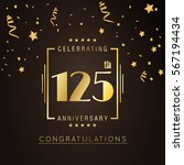 125th anniversary golden... | Shutterstock .eps vector #567194434