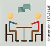 conversation icon flat design