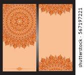 wedding invitation or card .... | Shutterstock .eps vector #567197221