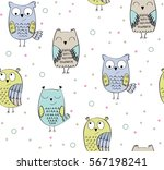 vector seamless pattern with... | Shutterstock .eps vector #567198241