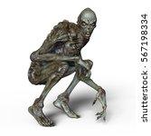 3d cg rendering of a monster | Shutterstock . vector #567198334