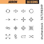arrow flat icon set. collection ...