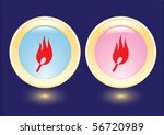 Vector Collection Buttons With...
