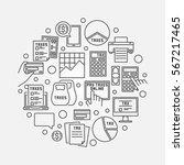 tax linear round illustration.... | Shutterstock .eps vector #567217465