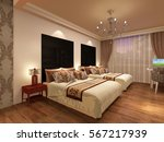 3d rendering bed room | Shutterstock . vector #567217939