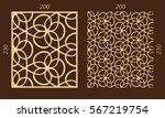 laser cutting set. woodcut... | Shutterstock .eps vector #567219754