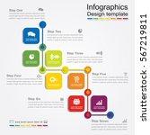 infographic design template...   Shutterstock .eps vector #567219811