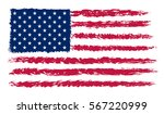 usa flag in grunge style.vector ... | Shutterstock .eps vector #567220999