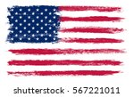 usa flag in grunge style.vector ... | Shutterstock .eps vector #567221011